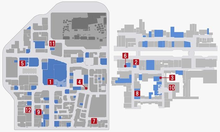 イカサマアイテムの入手場所マップ