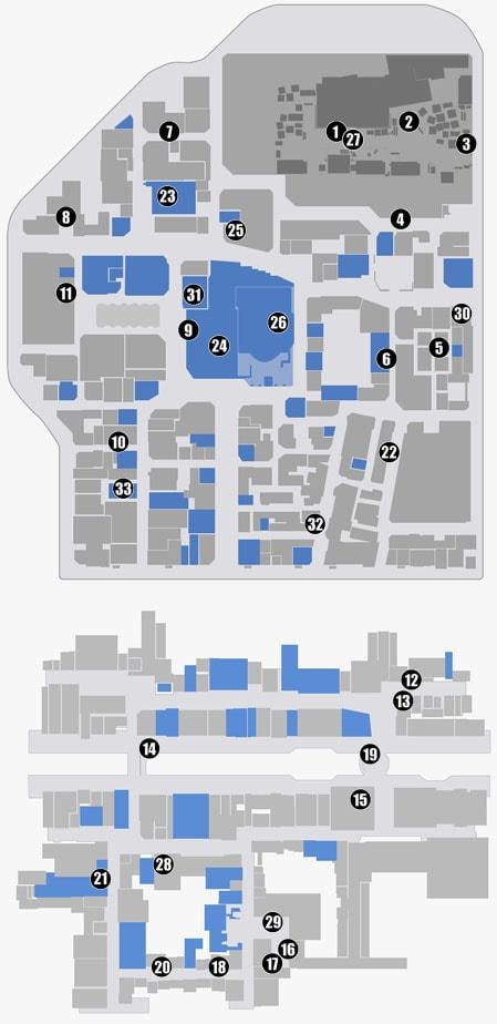 追加される従業員の場所のマップ