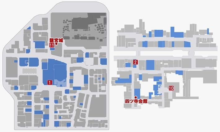 こいこいをプレイできる場所のマップ