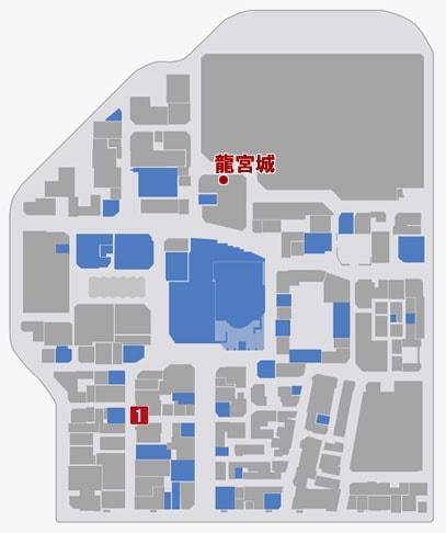 サブストーリーNo.22『龍宮城』のマップ
