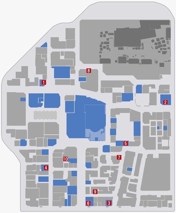神室町の販売店がある場所のマップ