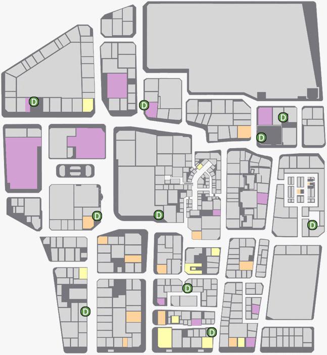 神室町にあるドリームマシンの場所のマップ