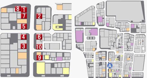 電脳王エリアのマップ