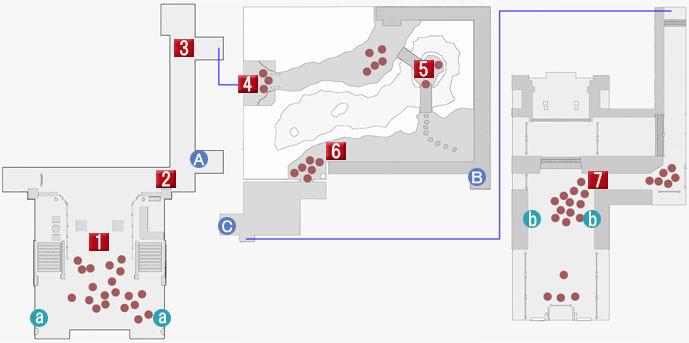 第十章の東城会本部のマップ