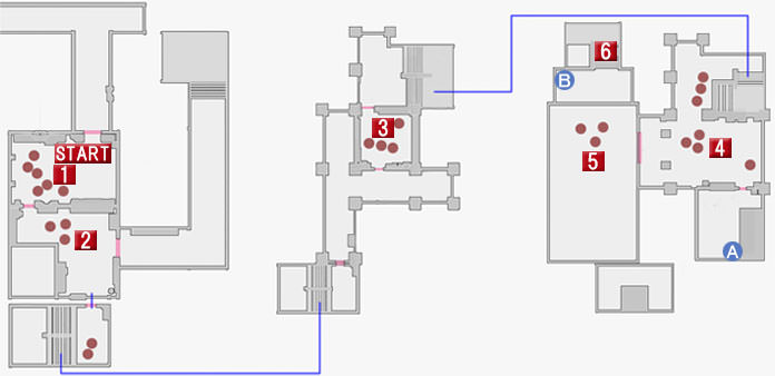 最終章の堂島組本部のマップ
