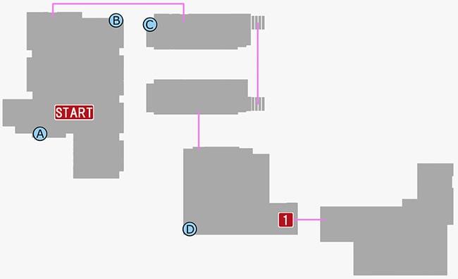 龍が如く7の第二章の雑居ビルの攻略マップ