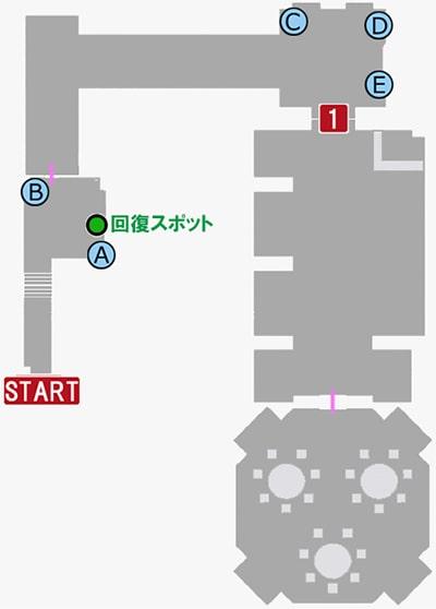 龍が如く7の第二章の平安樓神室支店VIPルームの攻略マップ