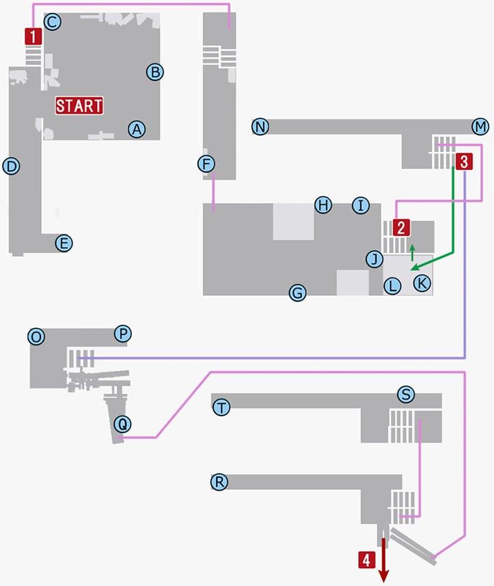 龍が如く7のコミジュル内部のマップその1