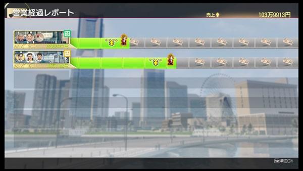 営業活動の画面