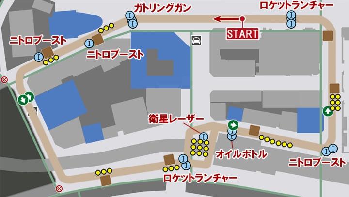 ダートドライブのコースマップ