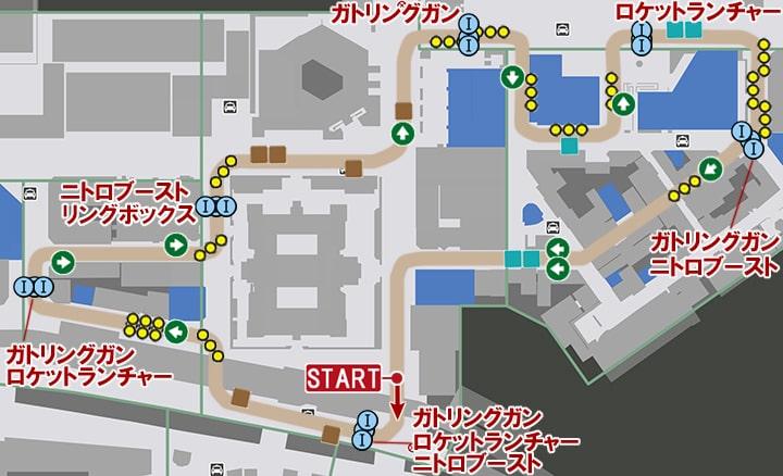 フロートハイウェイのコースマップ