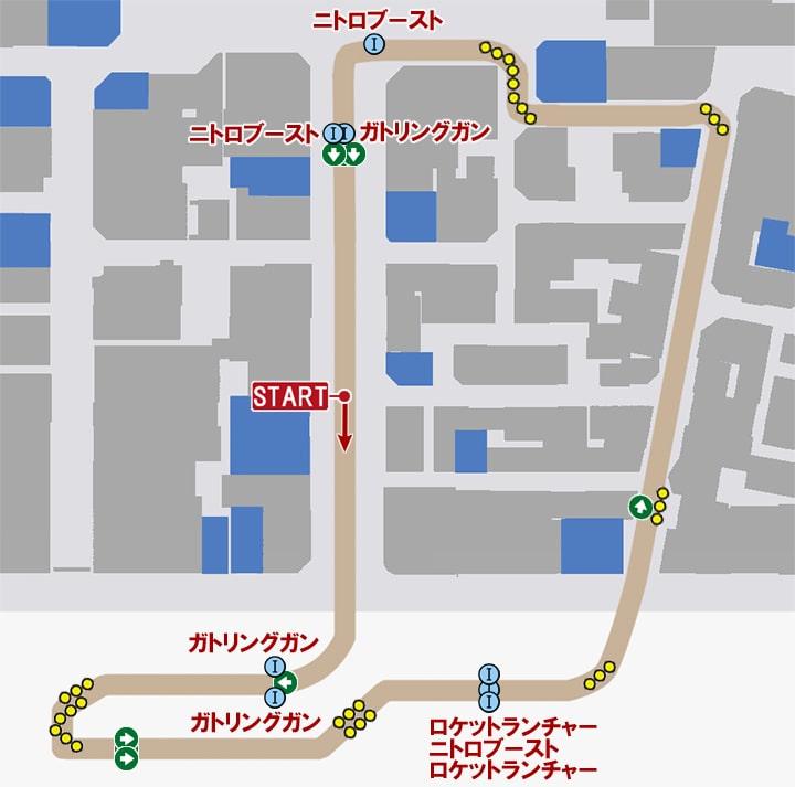 ソニックスタンピードのコースマップ