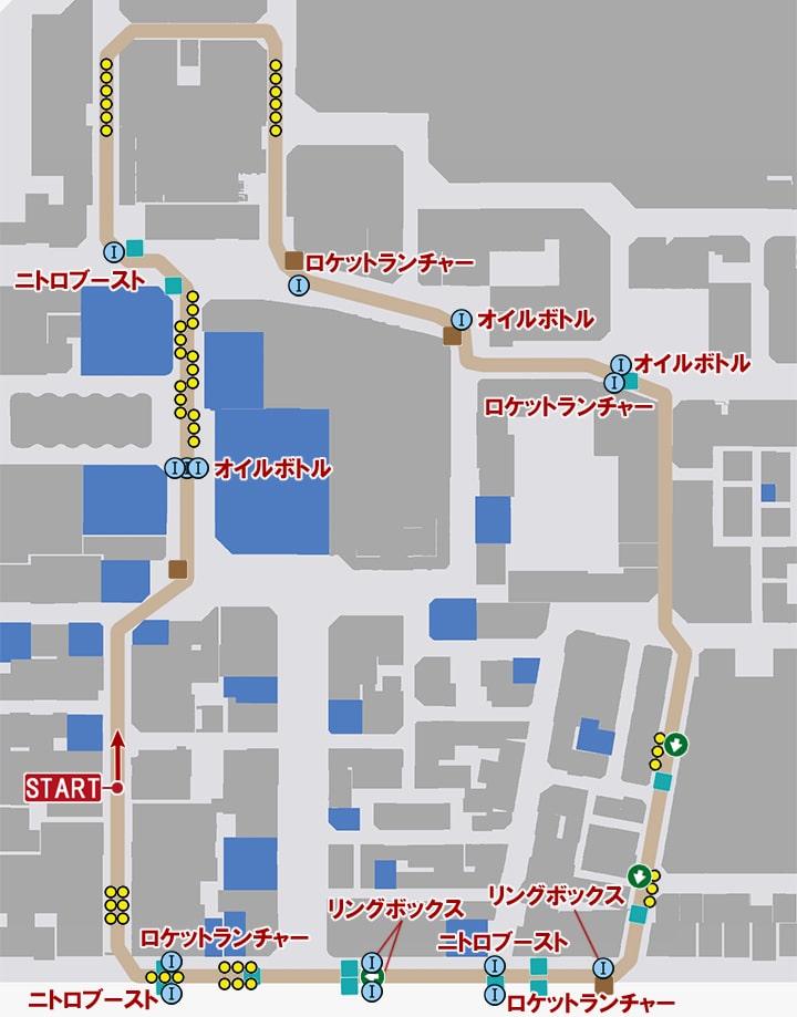 フェイタルハザードのコースマップ