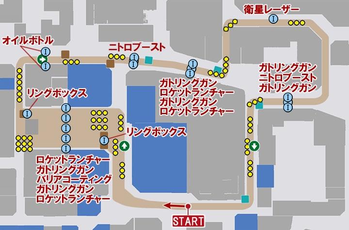 ファイナルカムロサーキットのコースマップ