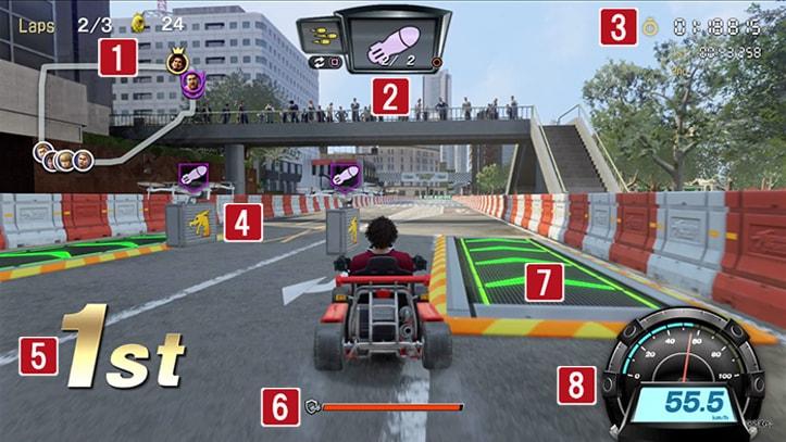 ドラゴンカートのゲーム画面