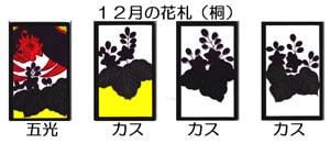 12月の花札(桐)