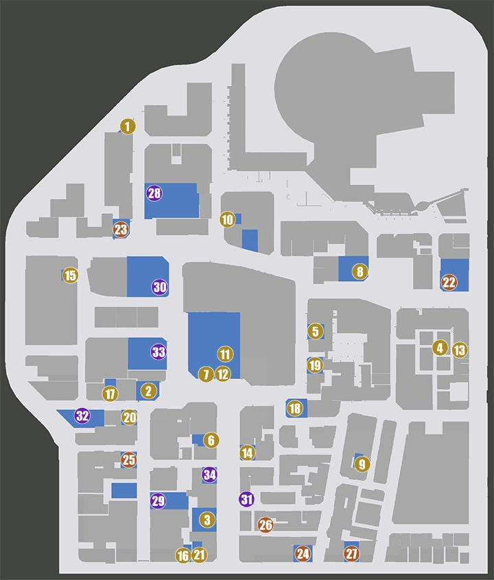 東京・神室町のマップ