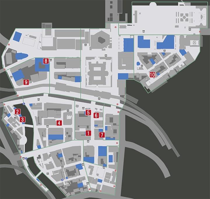 龍が如く7の宴会トークの発生場所マップ