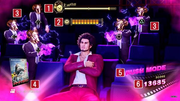 名画座のゲーム画面
