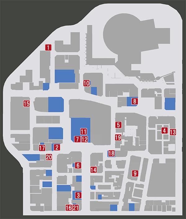 神室町の飲食店マップ