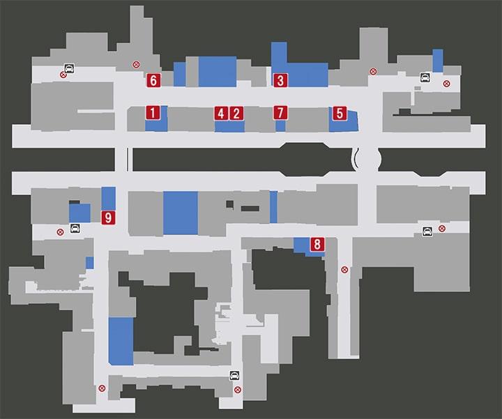 蒼天堀の飲食店マップ