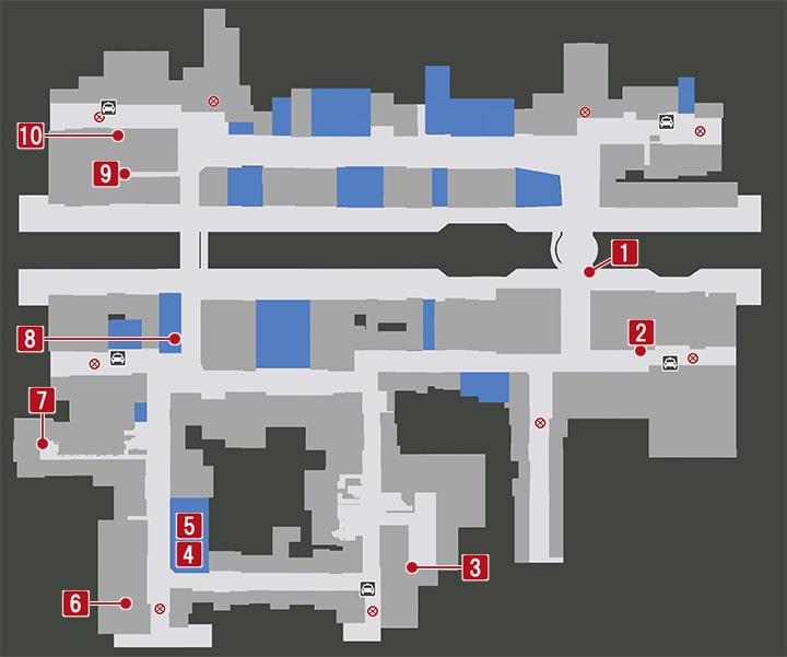 龍が如く7の大阪・蒼天堀にある金庫・銀庫の入手場所マップ
