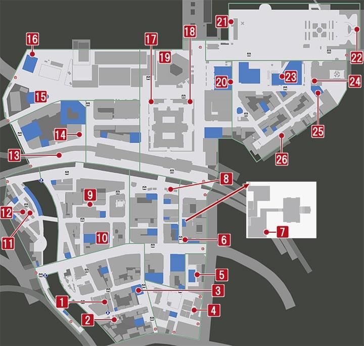 龍が如く7の横浜・伊勢佐木異人町にある金庫・銀庫の入手場所マップ