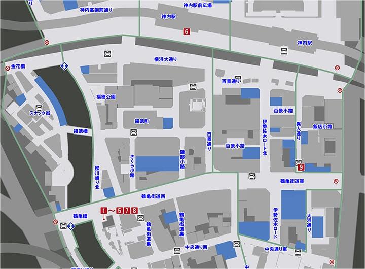 サブストーリーNo17『横浜一難しい恋』の攻略マップ