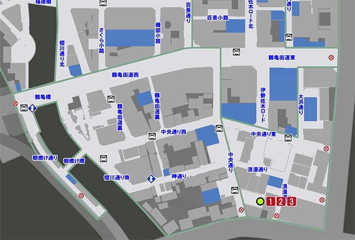 サブストーリーNo21『極道のゴミ捨て場』の攻略マップ