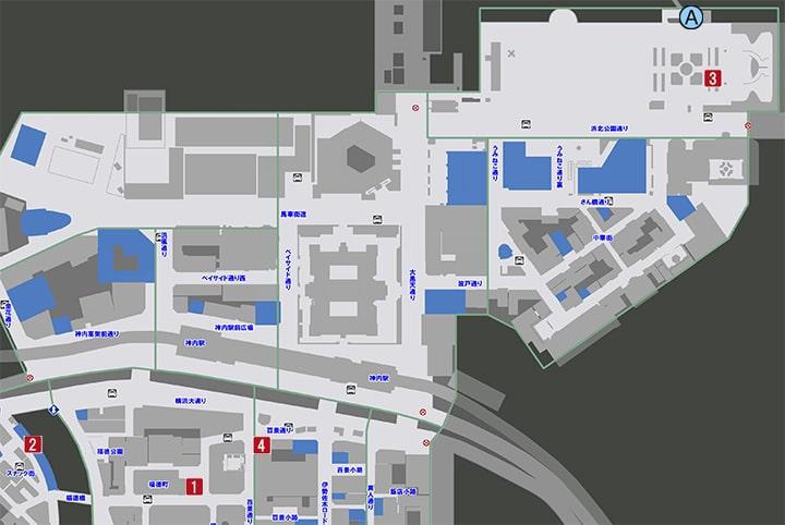 サブストーリーNo25『色褪せた星』の攻略マップ