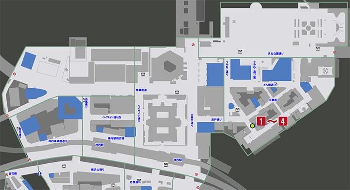サブストーリーNo31『半人前』の攻略マップ