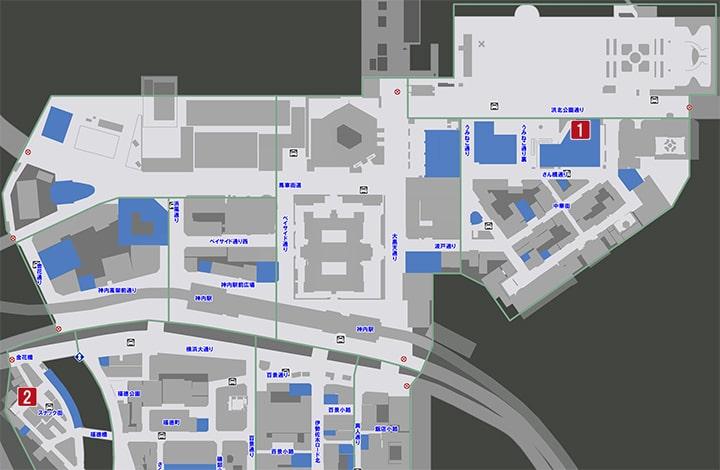 サブストーリーNo48『ふたりのビジョン』の攻略マップ