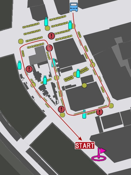 中級コースの攻略マップ
