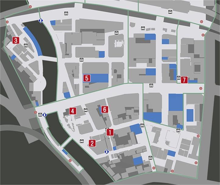 龍が如く7の体験版のマップ